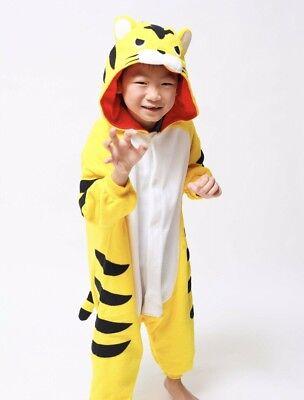 Kigurumi Kids Yellow Tiger Costume Fits 3-5 Preowned - Kids Tiger Costume