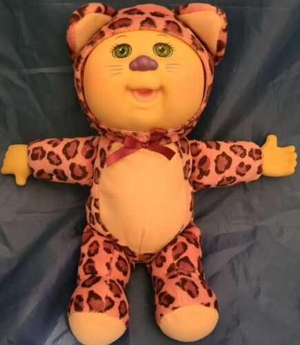2015 CABBAGE PATCH CUTIES KIDS PINK LEOPARD OUTFIT STUFFED ANIMAL PLUSH TOY DOLL - $8.47