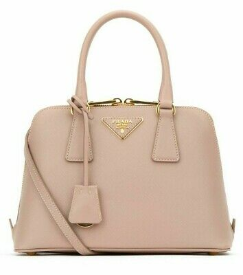 Prada Borsa A Mano Saffiano Lux Bag, 1BA838, Color Cammeo (Prada Colors)