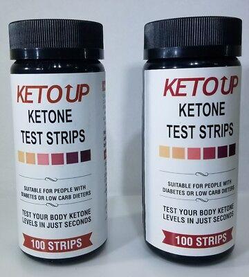 KETONE TEST STRIPS - 200ct. - BULLETPROOF - KETO DIET - OFFICIAL URINE TEST