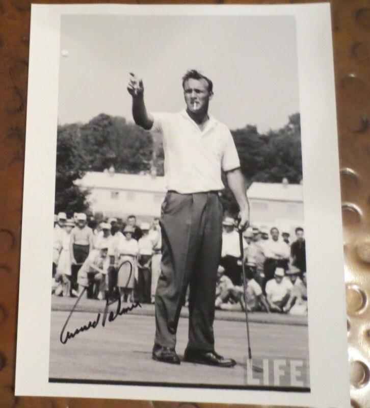 Arnold Palmer Professional Golf Legend signed autographed photo 3 x PGA Champ