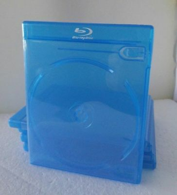 5 Blu-ray Movie Cases  2-Disc DOUBLE W/Logo Empty Replacement Case  Double 2 Dvd Cases