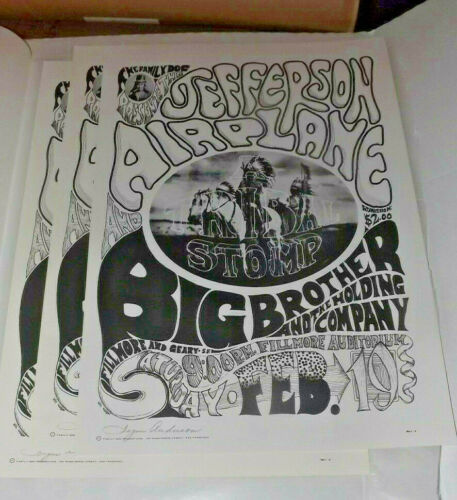 Jefferson Airplane 1966 Concert Poster SIGNED BY SIGNE ANDERSON ORIGINAL SINGER