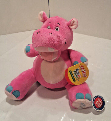 Hippo  Nuby Hugs N Tickles  Pink  10   Giggles  Brand New Toddler Baby Toy Plush