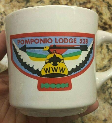 Vintage Boy Scout POMPONIO LODGE 528 WWW Order Of Arrow BSA Ceramic Mug Scarce