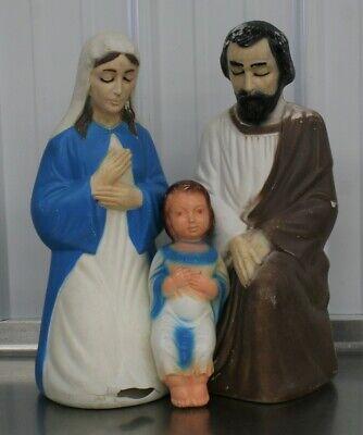 Antique Blow Mold Nativity Set Christmas Yard Decor Empire RARE Set 1372