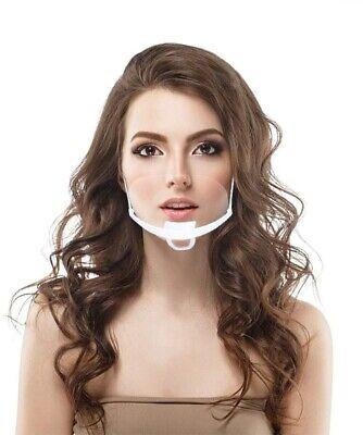 3er Visier-Set Mundschutz Nase Kinn Gesichtsmaske halb Plexiglas Plastik neu