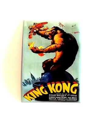 KING KONG - ORIGINAL 1933 FILM POSTER FRIDGE MAGNET - Metal New
