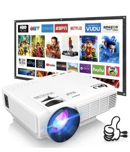 DR. J Professional HI-04 Mini Outdoor Movie Projector Bundle & 100 Inch Screen