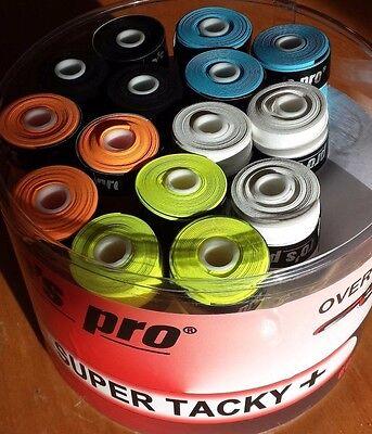 10 Super Tacky+ Griffband/-bänder TENNIS Squash KICKER freie Farbwahl PROS PRO
