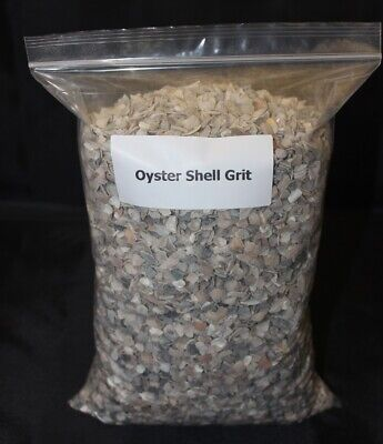 Oyster Shell Grit 5kg  4 -7mm Suitable For Adult Laying Hens - Re-sealable Bag