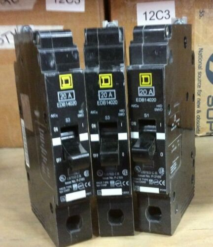 Square D EDB14020 Circuit Breaker 1 Pole