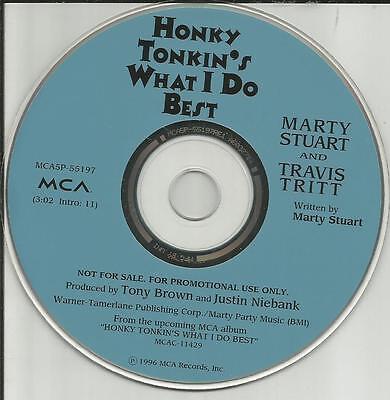 Marty Stuart Travis Tritt Honky Tonkin S What I Do Best 1996 Promo Dj Cd Single