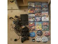SONY PS2 SLIM 3 CONTROLLERS WITH GAMES
