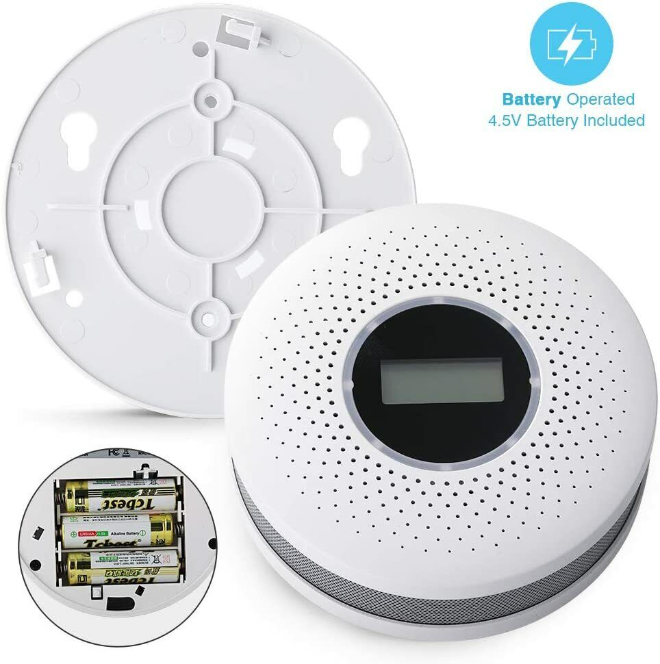 Smoke Detector and Carbon Monoxide Detector Alarm with LCD D