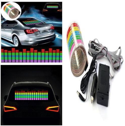 Sound Activated Car Music Rhythm Sticker W/Uniform &Soft Lumination Led Light