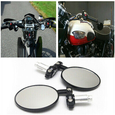 3 ROUND 78 HANDLEBAR END MIRRORS FOR MOTORCYCLE STREET BIKES CHOPPER