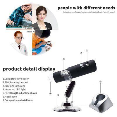 2mp Hd Wireless Wifi Digital Microscope 501000x 8led Rotary Base Microscope Nd