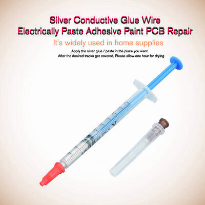 Silver Conductive Glue Wire Electrically Paste Adhesive Paint Pcb Repair 0.3ml N