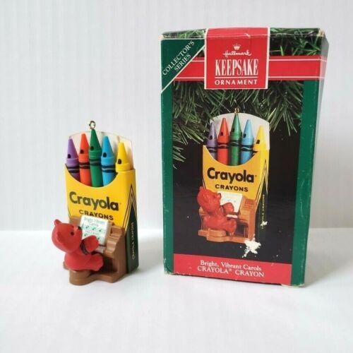 Hallmark Keepsake Ornament Crayola Crayon Bright Vibrant Carols Bear Piano 1991