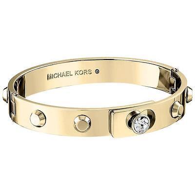 NEW AUTHENTIC MICHAEL KORS GOLD ASTOR STUDDED BANGLE MK BRACELET MKJ4550710