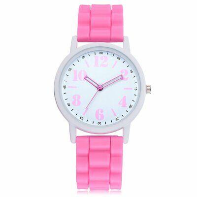Women Watches Big Round Dial Women Soft Silicone Band Quartz Watch Wrist Watch N
