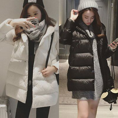 Korean Fashion Women Thicken Cotton Hooded Coat Long Sleeve Slim Winter Jacket Y Cotton Thicken Long Sleeve