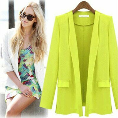 Women 2 Piece Slim Fit Suits Set for Business Office Lady Blazer Jacket Pants ND