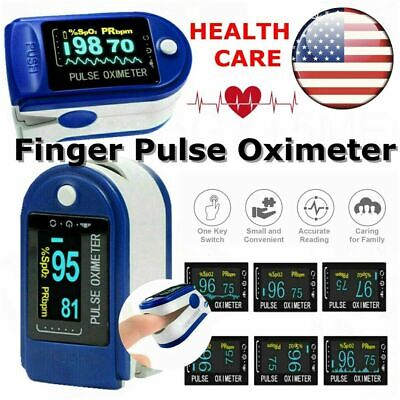 Us Pulse Oximeter Blood Oxygen Saturation Spo2 Meter Finger Pr Health Monitor