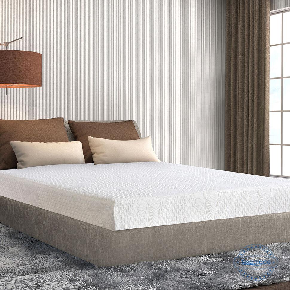 SLEEPLACE 8 Inch Cloud I Gel Memory Foam Mattress, Comfortab