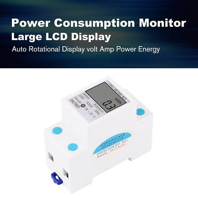 Sinotimer Power Consumption Energy Watt Amp Volt Meter Monitor Analyzer Kwh Ac Y