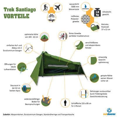 Leichtzelt ZELT Trek Santiago von OUTDOORER