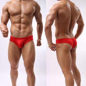 Men's Sexy Mini Boxer Briefs Underwear Comfy Enhance Bulge Pouch Bikini Boxers
