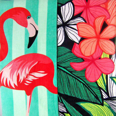 Flamingo OR Hibiscus Floral Beach Towel Better Homes And Gardens 40
