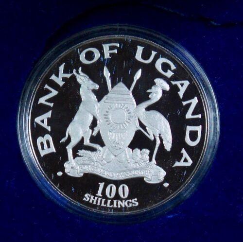 1981 Uganda 100 Shillings Silver Proof – Charles & Diana Wedding - #143