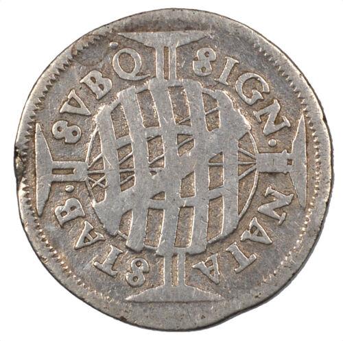 1696 Brazil Pedro II 320 Reis Silver Coin Circulated