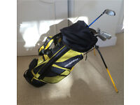Boys & Girls Junior Golf Club Set & Stand Bag with shoulder strap