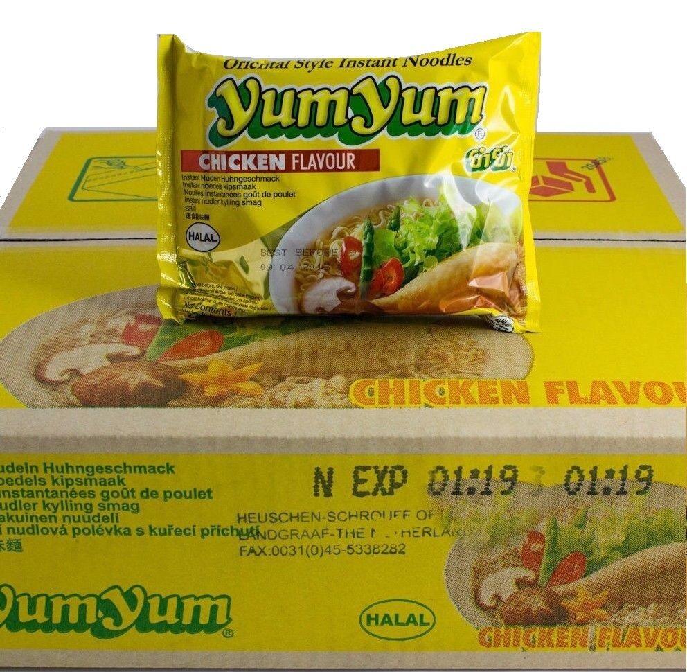 1 Karton YumYum HUHN Instant Nudelsuppen 30 x 60g Yum Yum Chicken Suppe Nudel