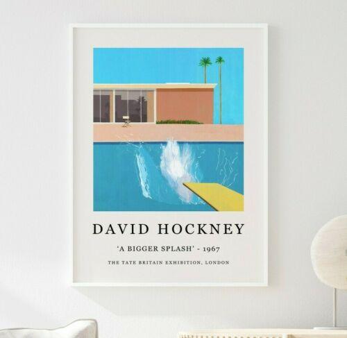 David Hockney Poster, David Hockney Print, A Bigger Splash, Wall Art Decor