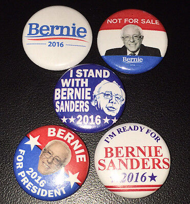 5 Bernie Sanders 2016 For President 1  Campaign Pin Button Pinback Badges  P002