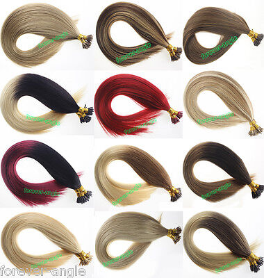 Pre Bonded Stick I Tip Fushion Hair Extensions Kerentin Remy Human Hair 7A 1G/S ()