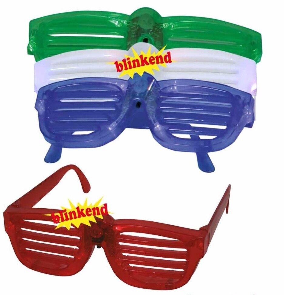 Gitterbrille blinkend Gitter Brille Sonnenbrille Kostüm Fasching Gag 125031013