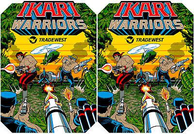 Ikari Warriors Side Art Panel Cabinet Graphics Stickers Reproduction