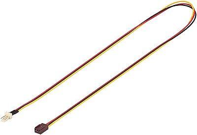 3 Pin Lüfter Verlängerung Molex Stecker > Buchse 3pol Übertragung Drehzahl 0,6 m - 6 Pin Verlängerung
