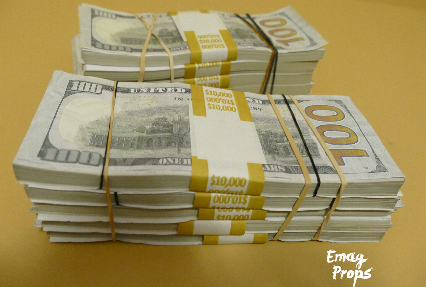 $100k - 2 Big Stack For Film, Movies, Videos Prank Fake Replica Copy Prop Money