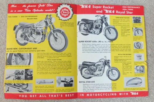 1963 BSA SALES BROCHURE