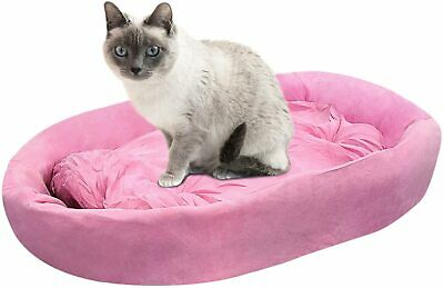 Bestpet Cat Bed for Indoor Cats, Machine Washable Cat Beds, Soft Round Sofa Bed Beds