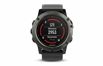 Garmin Fenix 5X Sapphire Multi Sport Training Gps Watch Slate Gray W  Black Band