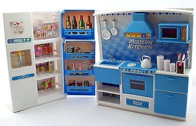 Deluxe Family Kitchen Barbie Size Furniture series 2 w Oven Sink Refridgerator