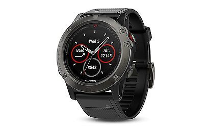 Garmin Fenix 5X Sapphire GPS & Fitness Watch - Slate Gray with Black Band